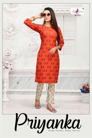 Fly free Priyanka Casual Wear Kurti With Bottom Collection