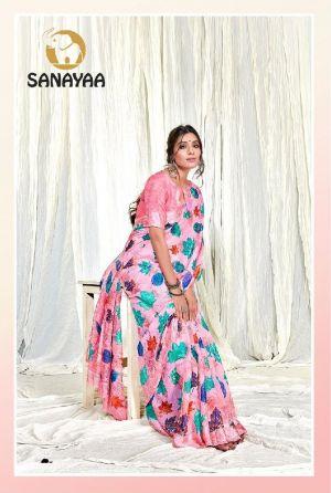 Sanayaa Kashish silk Casual Wear Linen Printed Saree Collection