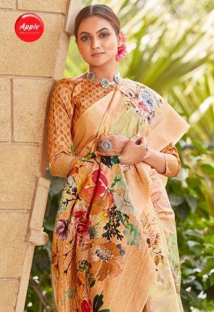 Apple Fiorella 3 Cotton Silk Designer Festive Wear Saree Collection