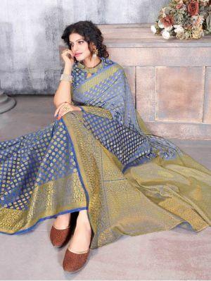 Rati Gajgamini Festive Wear Fancy Silk Saree Collection