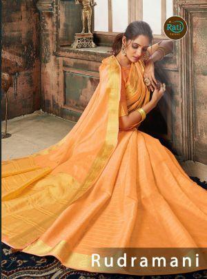 Rati Rudramani Festive Wear Fancy Silk Saree Collection
