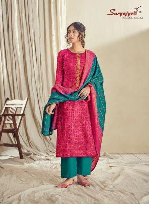 Suryajyoti Noreen 5 Satin Cotton Dress Material Collection