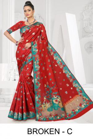 Ronisha Broken Ethnic Wear Latest Saree Collection