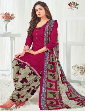Jaliyan Shringar Patiyala Ready Made Cotton Dress Collection