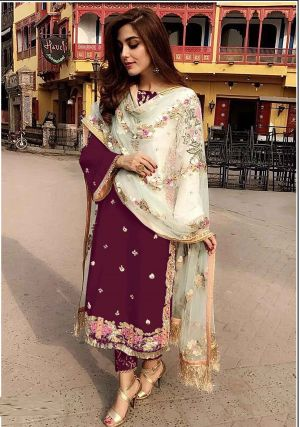 Suhani 7115 Georgette Wear Designer Dress Material Collection