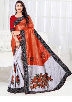 Ronisha Dhwani Festive Wear Embroidery Saree Collection