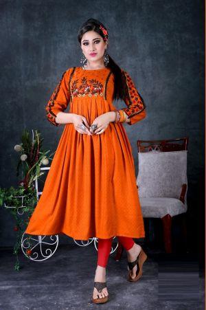 Prism Ethnic Wear Long Anarkali Kurti Collection