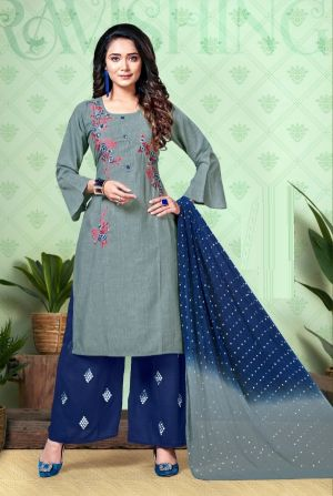 Nish Sitara Ethnic Wear Embroidery Work Ready Made Collection
