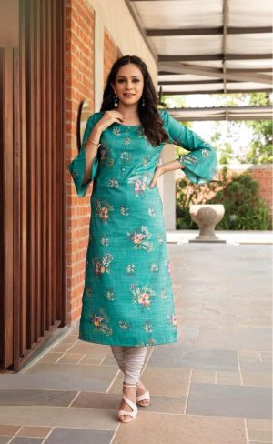 Ashmi Crystal Handwork Fancy Wear Long Kurti Collection