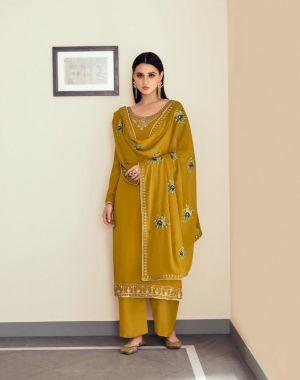 Aashirwad Sunheri 8458 Embroidery Salwar Kameez