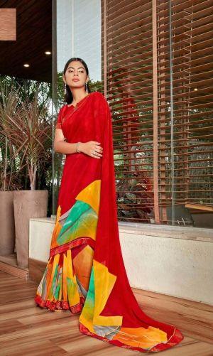 Laxminam Jodha Georgette Wear Saree Collection