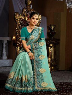 Ronisha Filhaal Fancy Work Designer Saree Collection