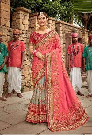 Kalista Khwaab 17 Wedding Wear Embroidery worked Saree Collection