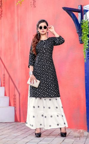 Padma 6 Fancy Wear Printed Kurti With Skirt Collection