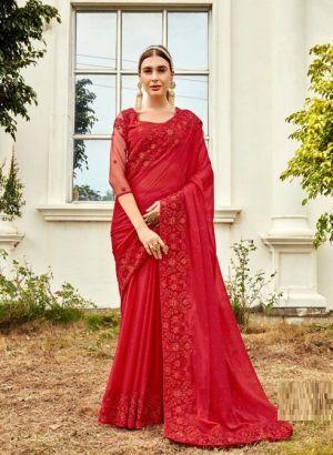 Kalista Harleen Gold Edition Party Wear Designer Vichitra Silk Saree