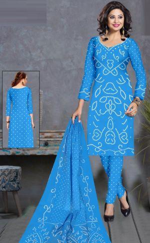 Neminath Priya 1 Special Bandhani Suits Cotton Satin Dress Material