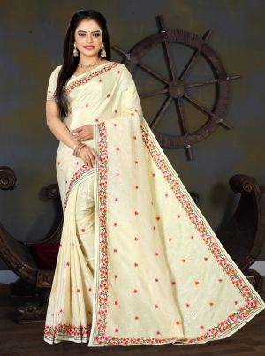 Ronisha Spain Teaditional Wear Sequence Work Saree Collection