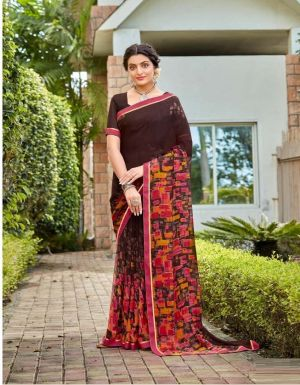 Laxminam Madhu Milan Casual Wear Georgette Saree Collection