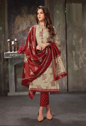 Jt Aleena 2 Cotton Printed Dress Material Collection