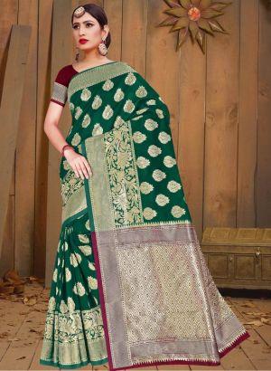 Ronisha Board Casual Wear Silk Saree Collection