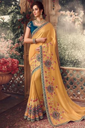 Suhani 14 Party Wear Rangoli Silk Embroidery Saree Collection