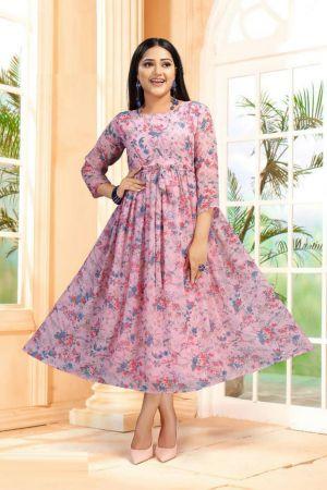 Fly free Sanam 3 Fancy Wear Anarkali Long Kurti Collection