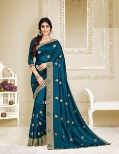 Kalista Vastrasutra Party Wear Designer Vichitra Silk Saree