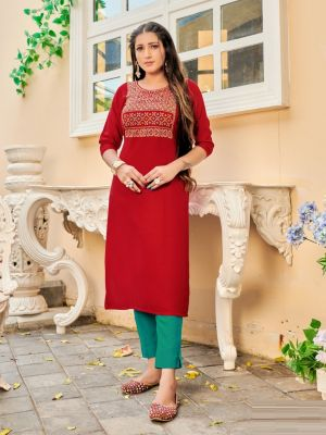 Miss India 3 Fancy Wear Embroidery Kurti Collection