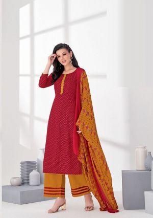 Suryajyoti Princess 17 Pure Rayon Print Designer Dress Material