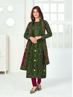 Suryajyoti Bandhani 11 Cambric Cotton Drees Materials