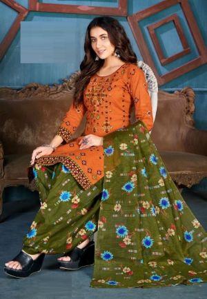 Balaji Pakeezah Regular Wear Cotton Dress Material