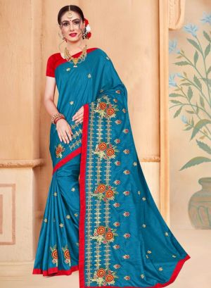 Ronisha Zebra Embroidery Worked Saree Collection