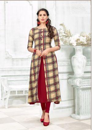 Tunic House Rukshar 1 Viscose Designer Kurti Collection