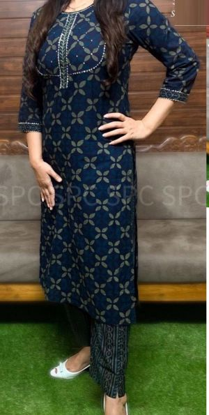 Rosey 8 Festive Wear Cotton Kurti With Bottom Collection