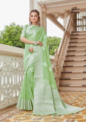 Sangam Madhurama Linen Zari Weaving Saree Collection