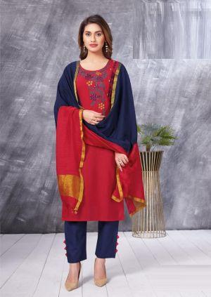 Aarvi Fashion Ahiliya 1 Kurti With Pant And Dupatta Collection