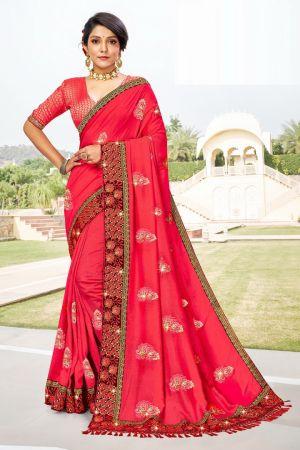 Ronisha Malhar Festive Wear Embroidery Saree Collection
