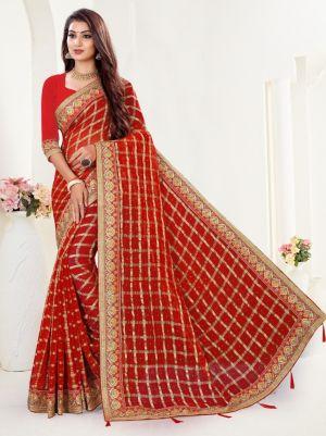 Ronisha Mishka Viscose Embroidery Work Saree Collection