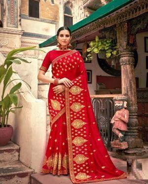 Kalista Simran 2 Party Wear Vichitra Silk Saree Collection