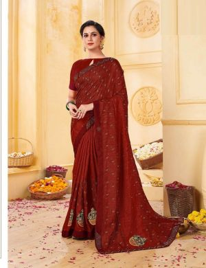 Kalista Juliet 2 Party Wear Designer Vichitra Silk Saree Collection