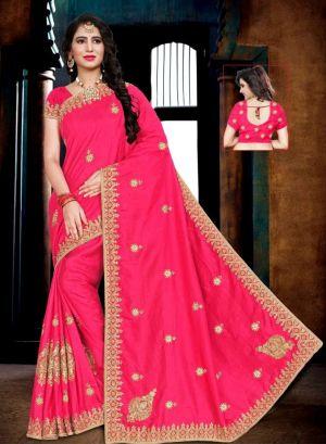 Ronisha Nexon Festive Wear Embroidery Worked Saree Collection