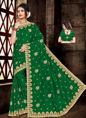 Ronisha Civic Festive Wear Embroidery Saree Collection
