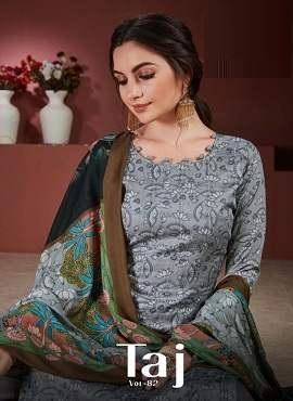 Viraa Taj 82 Digital Printed Designer Dress Material Collection