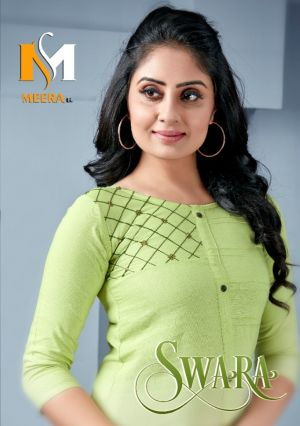 Meerali Swara 1 Rayon Straignt Cut Kurti Collection