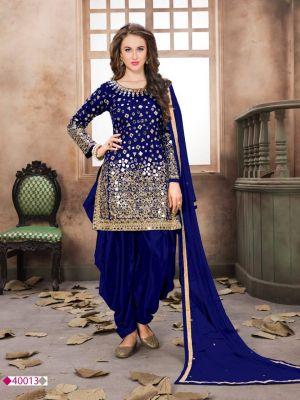Aanaya 40000 Series Tapeta Silk Designer Punjabi Suit
