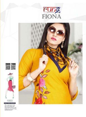 Rung Fiona Heavy Rayon Stylish Kurti