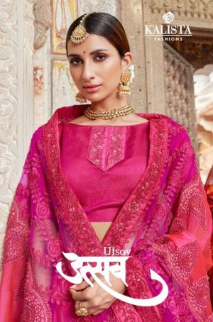 Kalista Utsav Heavy Georgette Festive Wear Designer Saree
