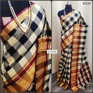 KJ Cotton 6 Soft Cotton Silk Running Wear Saree