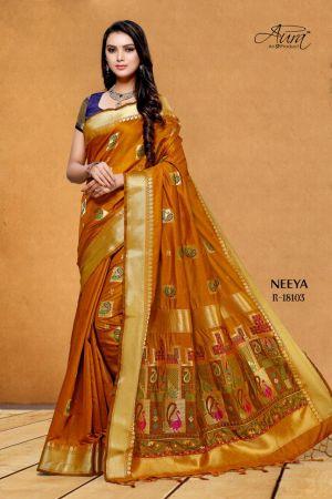 Aura Neeya Designer Kanchivaram Silk Rich Pallu Saree