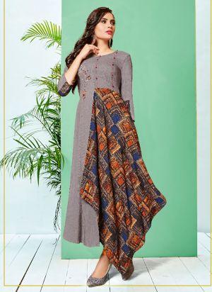 K Kayra 1 Premium Lining Rayon Print Designer Kurti